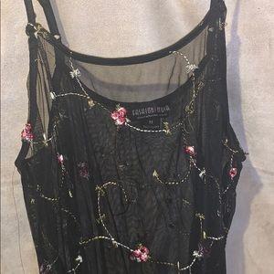 Fashion Nova Intimates & Sleepwear - Floral See through fashion nova cover up